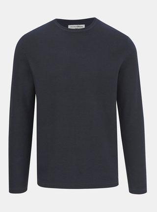 Tmavomodrý pánsky basic sveter Tom Tailor Denim