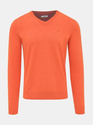 Oranžový pánsky basic sveter Tom Tailor