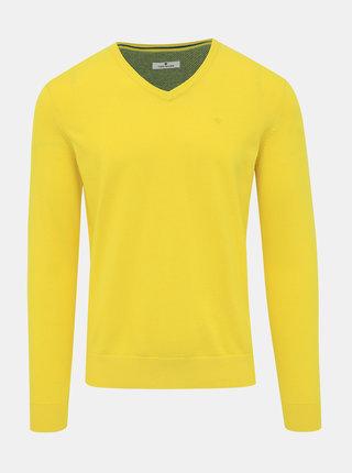 Žltý pánsky basic sveter Tom Tailor