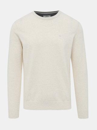 Krémový pánský basic svetr Tom Tailor