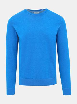 Modrý pánsky basic sveter Tom Tailor