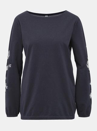 Tmavomodré vzorované tričko Pompea Maglia