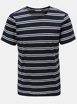 Tmavomodré pruhované tričko Casual Friday by Blend
