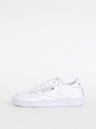 Biele dámske kožené tenisky Reebok Club 85