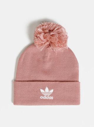 Rúžová čapica s bambuľou adidas Originals Bobble