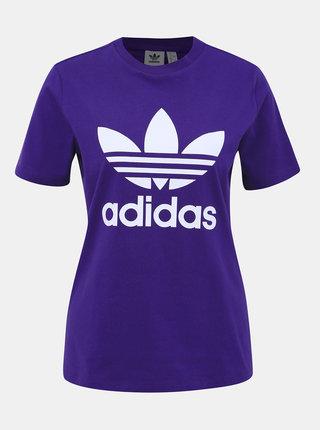 Fialové dámské tričko adidas Originals Trefoil