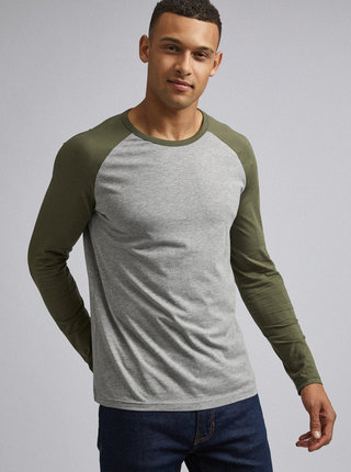 Šedé basic tričko Burton Menswear London Raglan