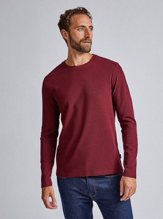 Vínové basic tričko Burton Menswear London