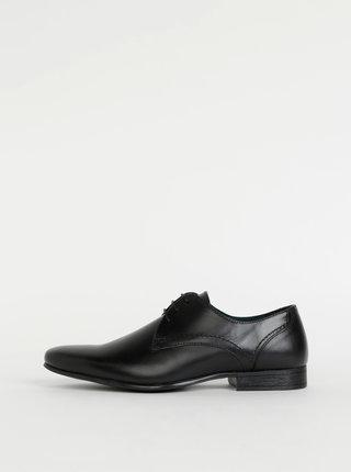 Černé pánské kožené polobotky Burton Menswear London Sapson