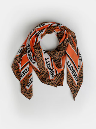 Hnědý dámský šátek s gepardím vzorem Tom Tailor Denim