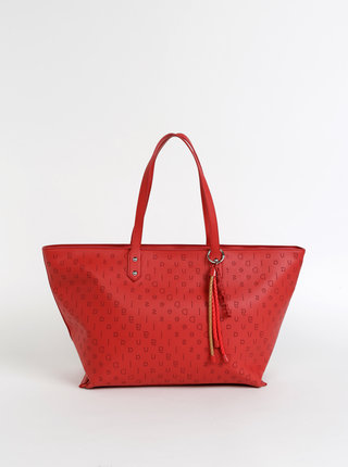 Červená vzorovaná kabelka Desigual