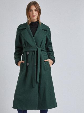 Tmavozelený kabát Dorothy Perkins