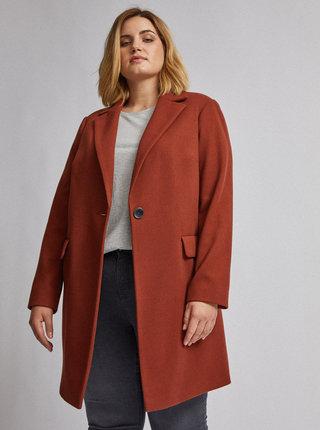 Hnědý kabát Dorothy Perkins Curve