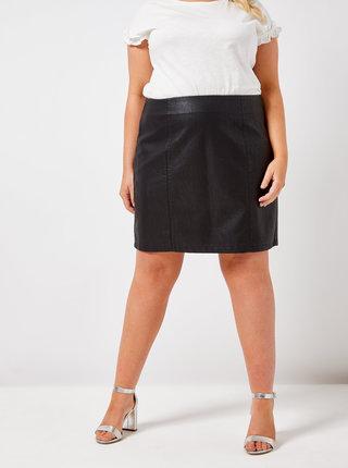 Čierna koženková minisukňa Dorothy Perkins Curve