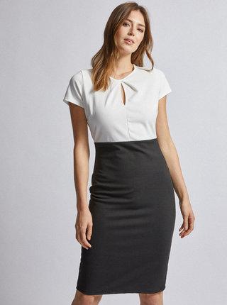 Bielo-čierne šaty Dorothy Perkins