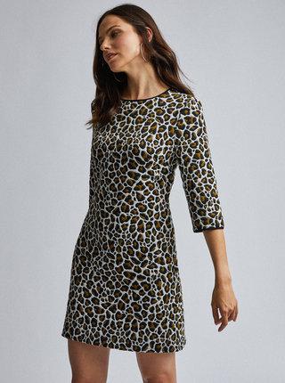 Černo-bílé šaty s leopardím vzorem Dorothy Perkins