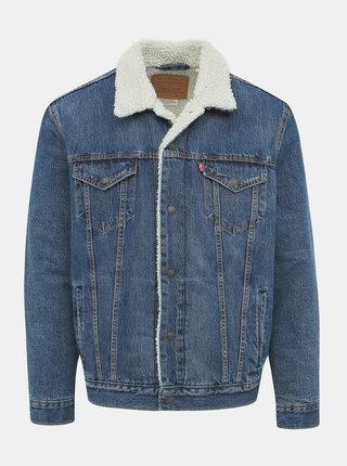 Modrá pánska zimná rifľová bunda Levi's®