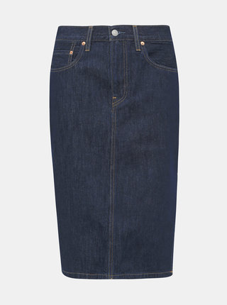 Tmavomodrá rifľová sukňa Levi's