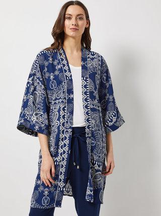 Tmavě modré vzorované kimono Dorothy Perkins