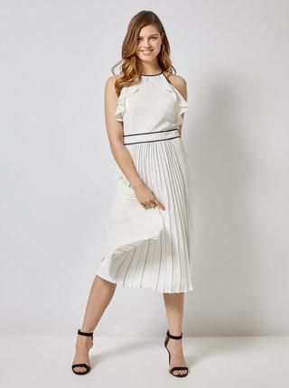 Biele plisované šaty Dorothy Perkins