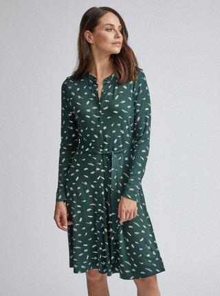 Tmavozelené vzorované šaty Dorothy Perkins