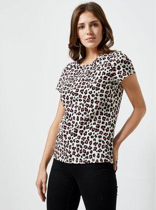 Čierno–biele tričko s leopardím vzorom Dorothy Perkins