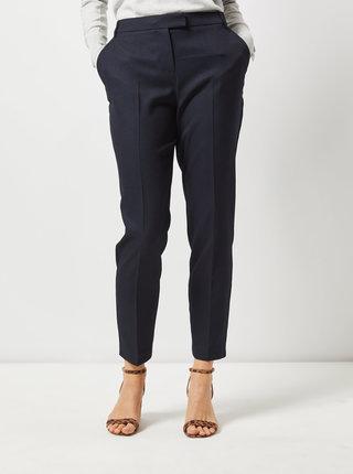 Tmavomodré skrátené straight fit nohavice Dorothy Perkins