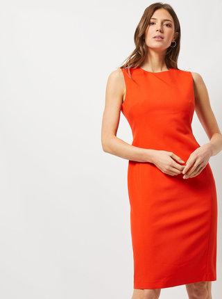 Oranžové púzdrové šaty Dorothy Perkins