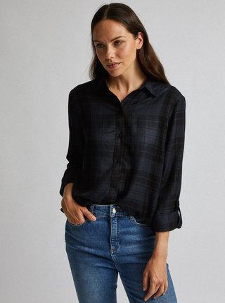Černá kostkovaná košile Dorothy Perkins