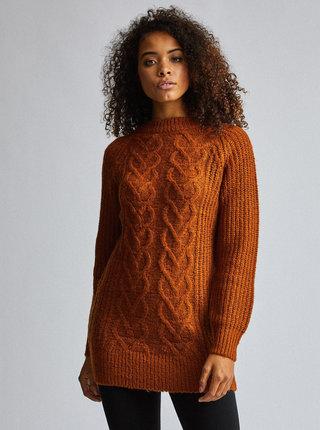 Hnedý sveter Dorothy Perkins Tall