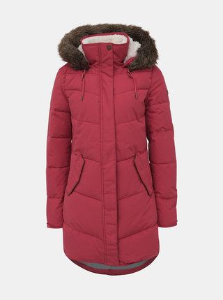 Červený zimný vodeodolný kabát Roxy Ellie