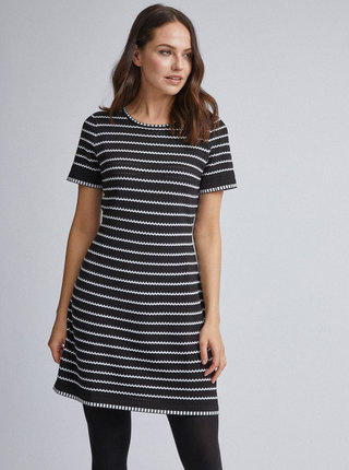 Černé pruhované svetrové šaty Dorothy Perkins