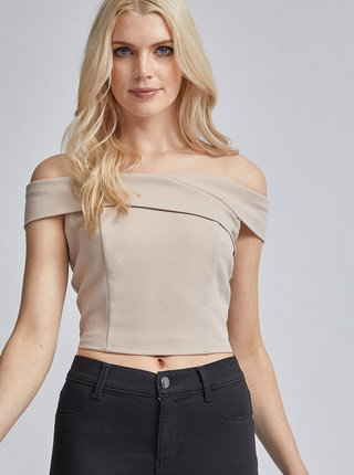 Béžový crop top Dorothy Perkins
