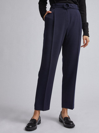 Tmavomodré tapered fit nohavice Dorothy Perkins