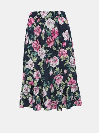 Tmavomodrá kvetovaná sukňa Jacqueline de Yong