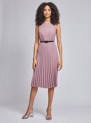 Staroružové plisované šaty Dorothy Perkins