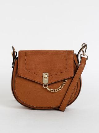 Hnedá crossbody kabelka s detailmi v semišovej úprave Dorothy Perkins