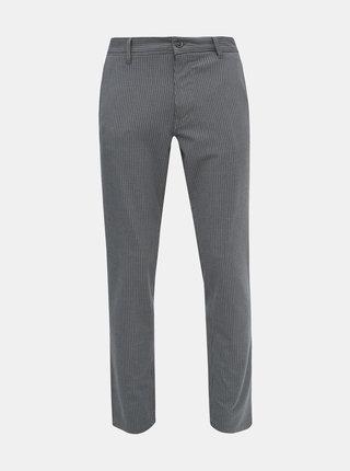 Šedé kostkované slim fit kalhoty Selected Homme Storm