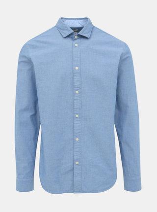 Svetlomodrá vzorovaná slim fit košeľa Selected Homme Mark