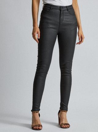 Černé skinny fit kalhoty s povrchovou úpravou Dorothy Perkins Shape & Lift