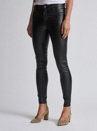Čierne super skinny fit nohavice s povrchovou úpravou Dorothy Perkins