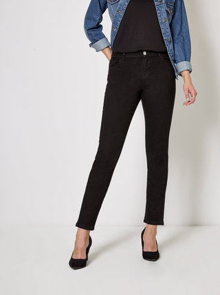 Blugi negri straight din denim Dorothy Perkins Ashley