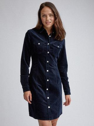 Tmavě modré manšestrové košilové šaty Dorothy Perkins