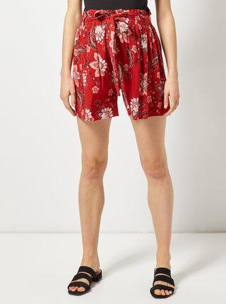 Červené tehotenské kvetované kraťasy Dorothy Perkins Maternity