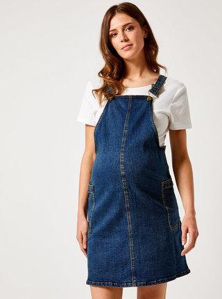 Modré tehotenské rifľové šaty Dorothy Perkins Maternity