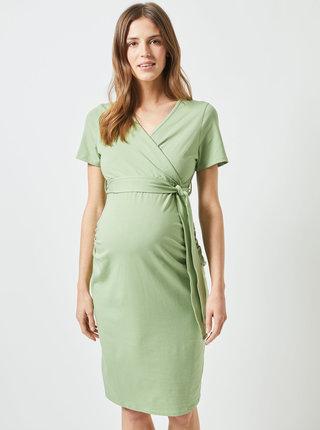 Zelené těhotenské pouzdrové šaty Dorothy Perkins Maternity