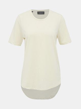 Krémové basic tričko Selected Femme Ella