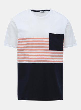Modro-bílé tričko ONLY & SONS Del