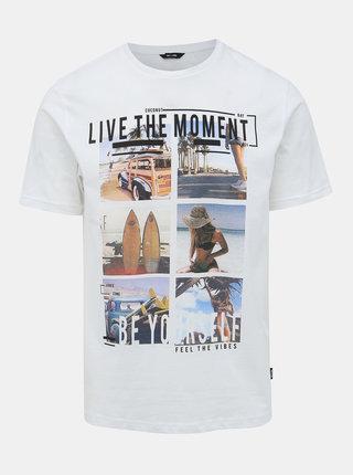 Bílé tričko ONLY & SONS Cam