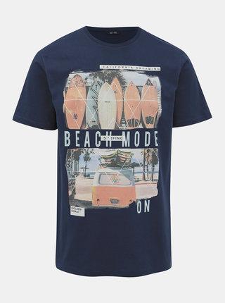 Tmavě modré tričko ONLY & SONS Cam